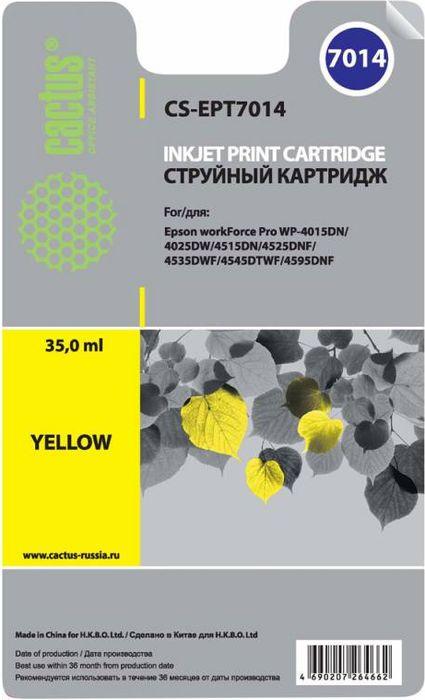 Cactus CS-EPT7014, Yellow картридж струйный для Epson WF-4015/4020/4025/4095/4515