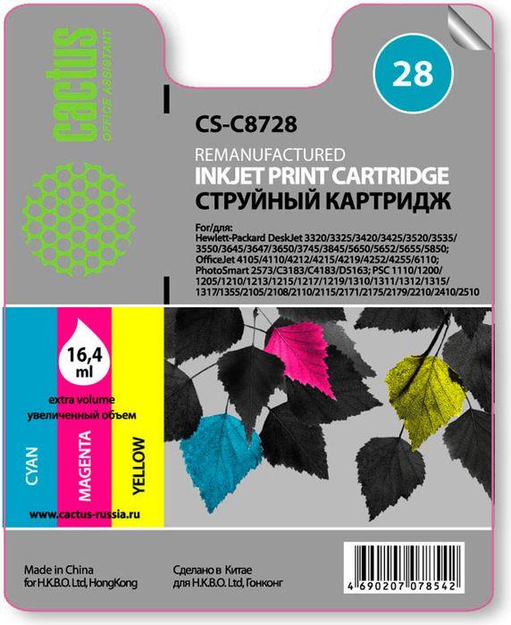 Cactus CS-C8728 №28, Color картридж струйный для HP DJ 3320/3325/3420/3425/3520CS-C8728Картридж Cactus CS-C8728 №28 для струйных принтеров HP DJ 3320/3325/3420/3425/3520.Расходные материалы Cactus для печати максимизируют характеристики принтера. Обеспечивают повышенную четкость изображения и плавность переходов оттенков и полутонов, позволяют отображать мельчайшие детали изображения. Обеспечивают надежное качество печати.