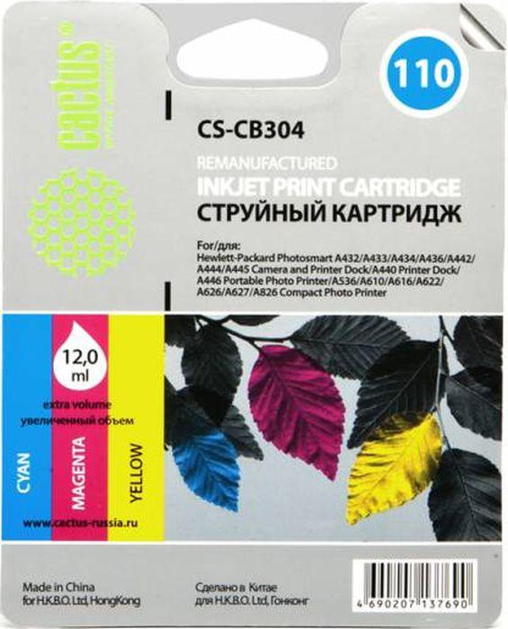 Cactus CS-CB304 №110, Color картридж струйный для HP PS A310/A311/A314/A316/A320CS-CB304Картридж Cactus CS-CB304 №110 для струйных принтеров HP PS A310/A311/A314/A316/A320.Расходные материалы Cactus для печати максимизируют характеристики принтера. Обеспечивают повышенную четкость изображения и плавность переходов оттенков и полутонов, позволяют отображать мельчайшие детали изображения. Обеспечивают надежное качество печати.