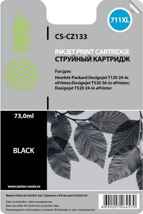 Cactus CS-CZ133 №711, Black картридж струйный для HP DJ T120/T520CS-CZ133Картридж Cactus CS-CZ133 №711 для струйных принтеров HP DJ T120/T520.Расходные материалы Cactus для печати максимизируют характеристики принтера. Обеспечивают повышенную четкость изображения и плавность переходов оттенков и полутонов, позволяют отображать мельчайшие детали изображения. Обеспечивают надежное качество печати.
