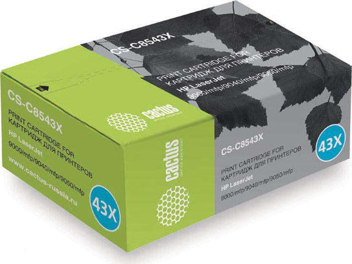 Cactus CS-C8543X, Black тонер-картридж для HP LJ 9000/9040/9050 картридж cactus cs ce313a purple для hp lj cp1012pro cp1025