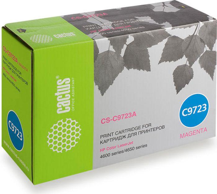 Cactus CS-C9723A, Magenta тонер-картридж для HP CLJ 4600/4650CS-C9723AТонер-картридж Cactus CS-C9723A для лазерных принтеров HP CLJ 4600/4650.Расходные материалы Cactus для лазерной печати максимизируют характеристики принтера. Обеспечивают повышенную чёткость чёрного текста и плавность переходов оттенков серого цвета и полутонов, позволяют отображать мельчайшие детали изображения. Гарантируют надежное качество печати.