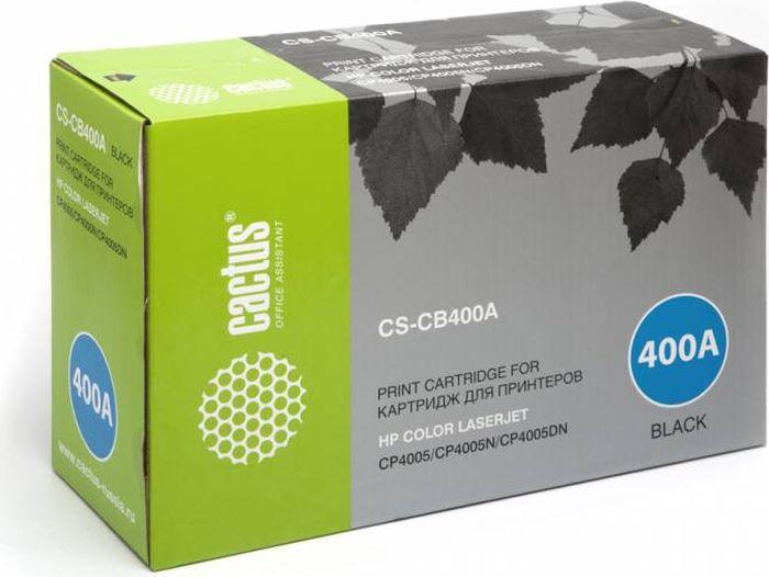 Cactus CS-CB400A, Black тонер-картридж для HP CLJ CP4005CS-CB400AТонер-картридж Cactus CS-CB400A для лазерных принтеров HP CLJ CP4005.Расходные материалы Cactus для лазерной печати максимизируют характеристики принтера. Обеспечивают повышенную чёткость чёрного текста и плавность переходов оттенков серого цвета и полутонов, позволяют отображать мельчайшие детали изображения. Гарантируют надежное качество печати.