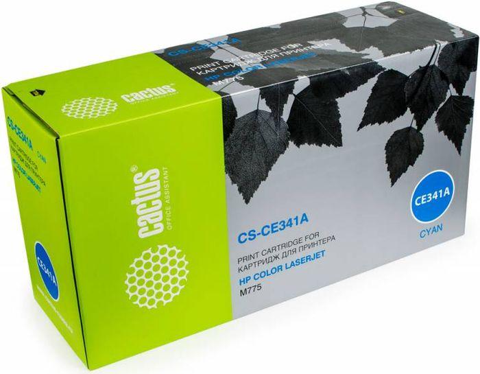 Cactus CS-CE341A, Cyan тонер-картридж для HP CLJ M775CS-CE341AТонер-картридж Cactus CS-CE341A для лазерных принтеров HP CLJ M775.Расходные материалы Cactus для лазерной печати максимизируют характеристики принтера. Обеспечивают повышенную чёткость чёрного текста и плавность переходов оттенков серого цвета и полутонов, позволяют отображать мельчайшие детали изображения. Гарантируют надежное качество печати.