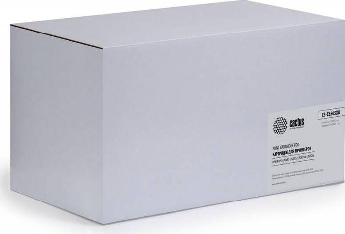 Cactus CS-CE505XD, Black тонер-картридж для HP LJ 2055 картридж cactus cs ce313a purple для hp lj cp1012pro cp1025
