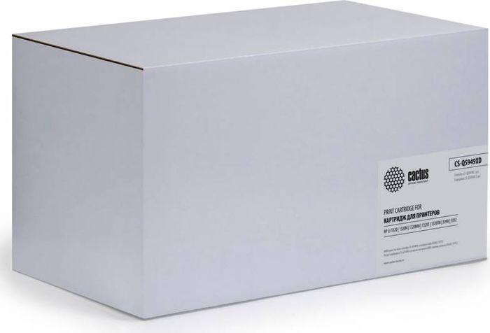 Cactus CS-Q5949XD, Black тонер-картридж для HP LJ 1320/3390/3392 cactus cs c4127x black тонер картридж для hp lj 4000 4050