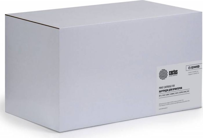 Cactus CS-Q5949XD, Black тонер-картридж для HP LJ 1320/3390/3392 картридж cactus cs ce313a purple для hp lj cp1012pro cp1025