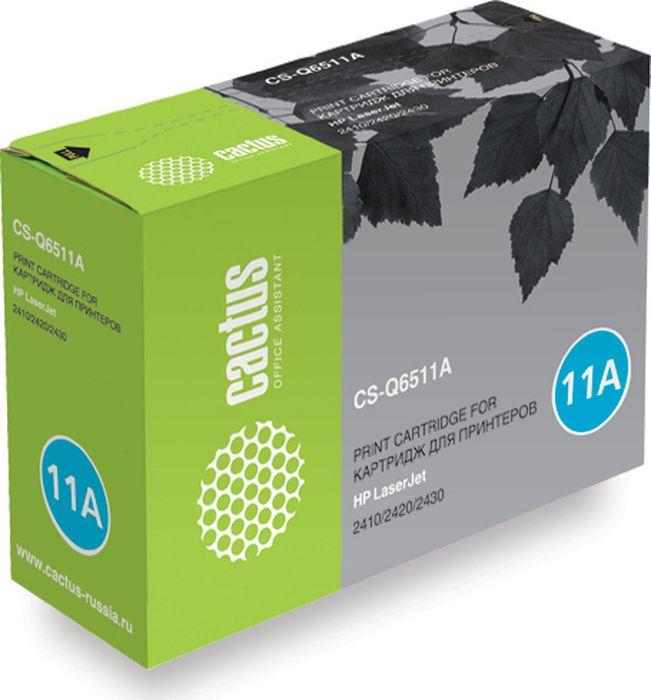 Cactus CS-Q6511A, Black тонер-картридж для HP LJ 2410/2420/2430 картридж cactus cs ce313a purple для hp lj cp1012pro cp1025
