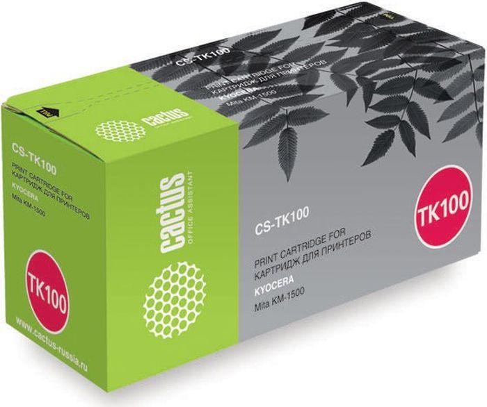 Cactus CS-TK100, Black тонер-картридж для Kyocera Mita KM-1500 картридж для принтера и мфу cactus cs c8765 131 black
