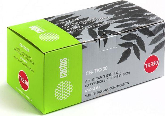 Cactus CS-TK330, Black тонер-картридж для Kyocera Mita FS 4000/4000DN/4000DTNCS-TK330Тонер-картридж Cactus CS-TK330 для лазерных принтеров Kyocera Mita FS 4000/4000DN/4000DTN.Расходные материалы Cactus для лазерной печати максимизируют характеристики принтера. Обеспечивают повышенную чёткость чёрного текста и плавность переходов оттенков серого цвета и полутонов, позволяют отображать мельчайшие детали изображения. Гарантируют надежное качество печати.