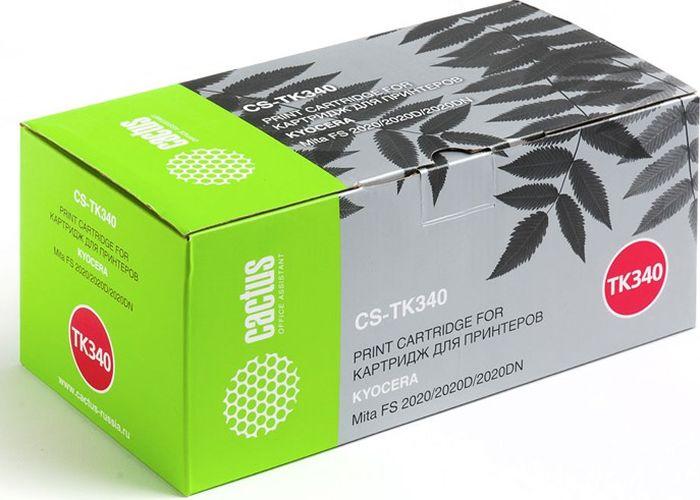 Cactus CS-TK340, Black тонер-картридж для Kyocera Mita FS 2020/2020D/2020DN