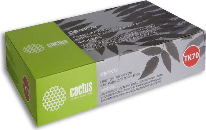 Cactus CS-TK70, Black тонер-картридж для Kyocera Mita FS 9100/9120/9500/9520CS-TK70Тонер-картридж Cactus CS-TK70 для лазерных принтеров Kyocera Mita FS 9100/9120/9500/9520.Расходные материалы Cactus для лазерной печати максимизируют характеристики принтера. Обеспечивают повышенную чёткость чёрного текста и плавность переходов оттенков серого цвета и полутонов, позволяют отображать мельчайшие детали изображения. Гарантируют надежное качество печати.