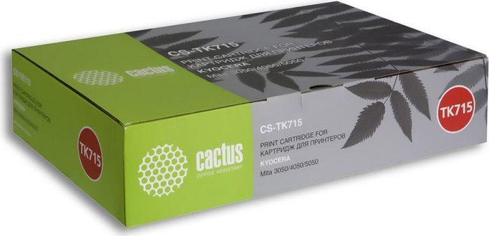 Cactus CS-TK715, Black тонер-картридж для Kyocera Mita KM 3050/4050/5050