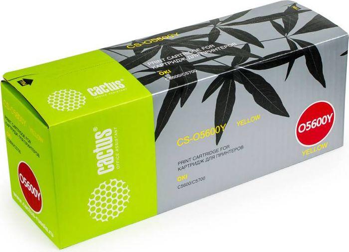 Cactus CS-O5600Y, Yellow тонер-картридж для Oki C5600/C5700CS-O5600YТонер-картридж Cactus CS-O5600Y для лазерных принтеров Oki C5600/C5700.Расходные материалы Cactus для лазерной печати максимизируют характеристики принтера. Обеспечивают повышенную чёткость чёрного текста и плавность переходов оттенков серого цвета и полутонов, позволяют отображать мельчайшие детали изображения. Гарантируют надежное качество печати.