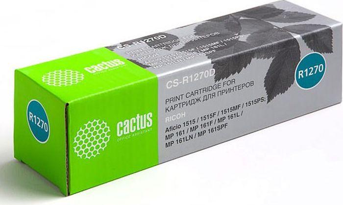 Cactus CS-R1270D, Black тонер-картридж для Ricoh Aficio 1515/1515F/1515MF/1515PS/ MP 161/161F/161L/161LN/161SPFCS-R1270DКартридж Cactus CS-R1270D для лазерных принтеров Ricoh.Расходные материалы CACTUS для монохромной лазерной печати максимизируют характеристики принтера. Обеспечивают повышенную чёткость чёрного текста и плавность переходов оттенков серого цвета и полутонов, позволяют отображать мельчайшие детали изображения. Обеспечивают надежное качество печати.