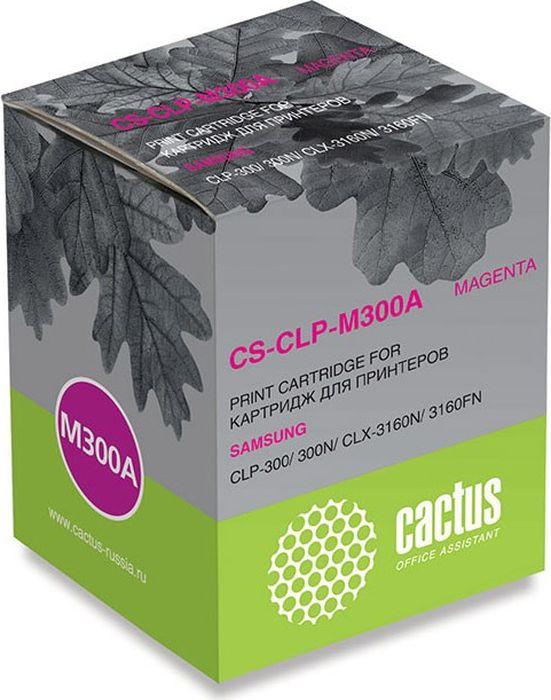 Cactus CS-CLP-M300A, Magenta тонер-картридж для Samsung CLP-300/300N/CLX-3160N/3160FN тонер cactus cs tsg3c 45 для samsung clp 300 голубой 45гр