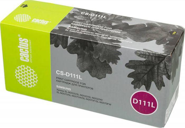 Cactus CS-D111L, Black тонер-картридж для Samsung Xpress M2022/M2020/M2021/M2020W/M2070 картридж samsung mlt d111l see для xpress m2022 m2022w m2020 m2021 m2020w m2021w m207 black