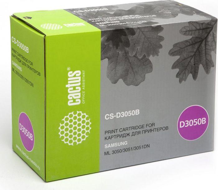 Cactus CS-D3050B, Black тонер-картридж для Samsung ML-3050/3051/3051N/3051NDCS-D3050BТонер-картридж Cactus CS-D3050B для лазерных принтеров Samsung ML-3050/3051/3051N/3051ND.Расходные материалы Cactus для лазерной печати максимизируют характеристики принтера. Обеспечивают повышенную чёткость чёрного текста и плавность переходов оттенков серого цвета и полутонов, позволяют отображать мельчайшие детали изображения. Гарантируют надежное качество печати.