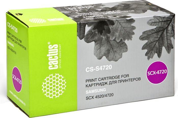Cactus CS-S4720, Black тонер-картридж для Samsung SCX-4520/4720/4720F/4720FNCS-S4720Тонер-картридж Cactus CS-S4720 для лазерных принтеров Samsung SCX-4520/4720/4720F/4720FN.Расходные материалы Cactus для лазерной печати максимизируют характеристики принтера. Обеспечивают повышенную чёткость чёрного текста и плавность переходов оттенков серого цвета и полутонов, позволяют отображать мельчайшие детали изображения. Гарантируют надежное качество печати.