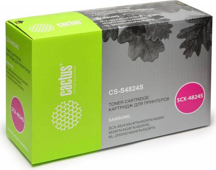 Cactus D20L CS-S4824S, Black тонер-картридж для Samsung SCX-4824FN/4828FN/ML-2855CS-S4824SТонер-картридж Cactus D20L CS-S4824S для лазерных принтеров Samsung SCX-4824FN, 4828FN, ML-2855Расходные материалы Cactus для лазерной печати максимизируют характеристики принтера. Обеспечивают повышенную чёткость чёрного текста и плавность переходов оттенков серого цвета и полутонов, позволяют отображать мельчайшие детали изображения. Гарантируют надежное качество печати.