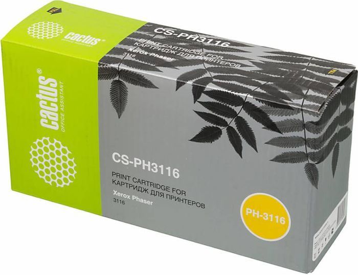 Cactus CS-PH3116 109R00748, Black тонер-картридж для Xerox Phaser 3116 тонер картридж cactus cs cf283x black