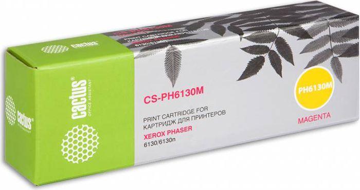 Cactus CS-PH6130M 106R01283, Magenta тонер-картридж для Xerox Phaser 6130/6130n тонер картридж cactus cs ep22s