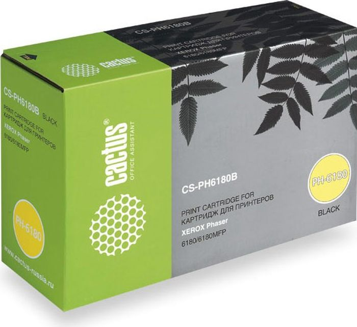 Cactus CS-PH6180B 113R00726, Black тонер-картридж для Xerox Phaser 6180/6180mfp тонер cactus cs ce285as black