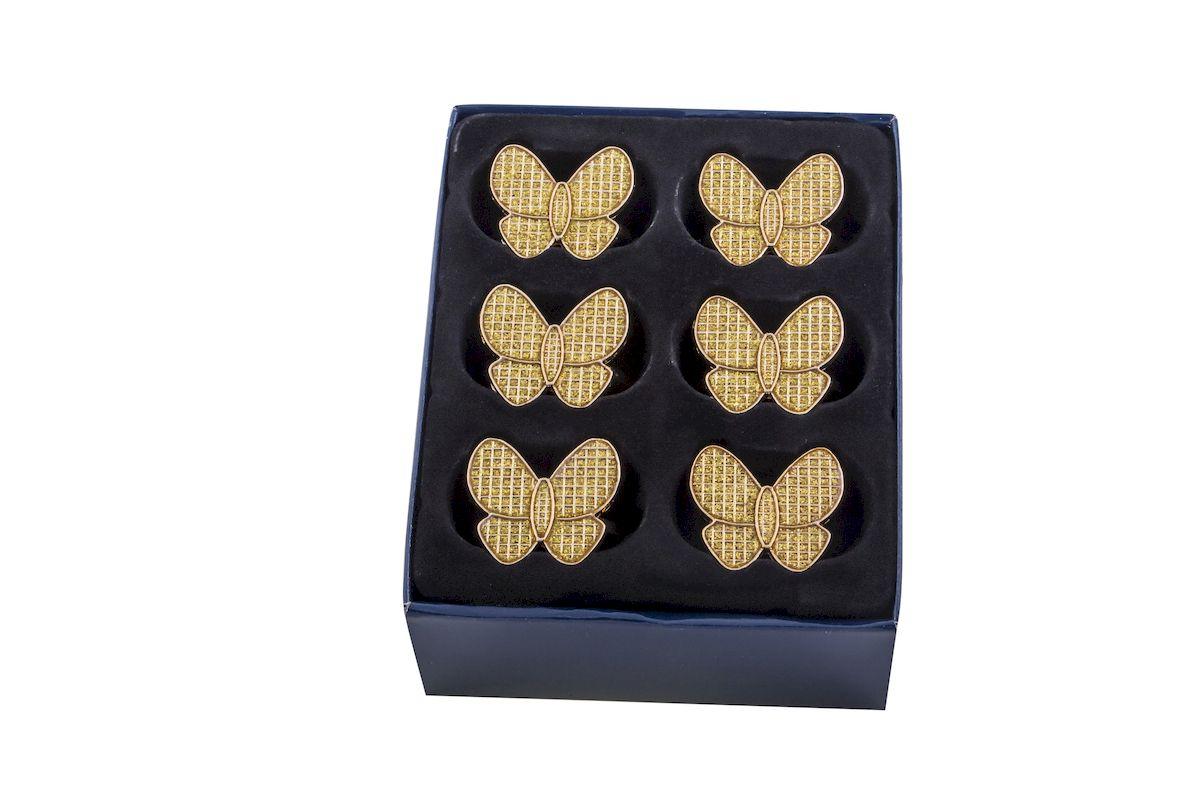 Кольца Rosenberg, 6 предметов. 4122-G77.858@22605кольца для салфеток, 6 предметов, размер одного кольца d=4.8 см, h=3.5 cм