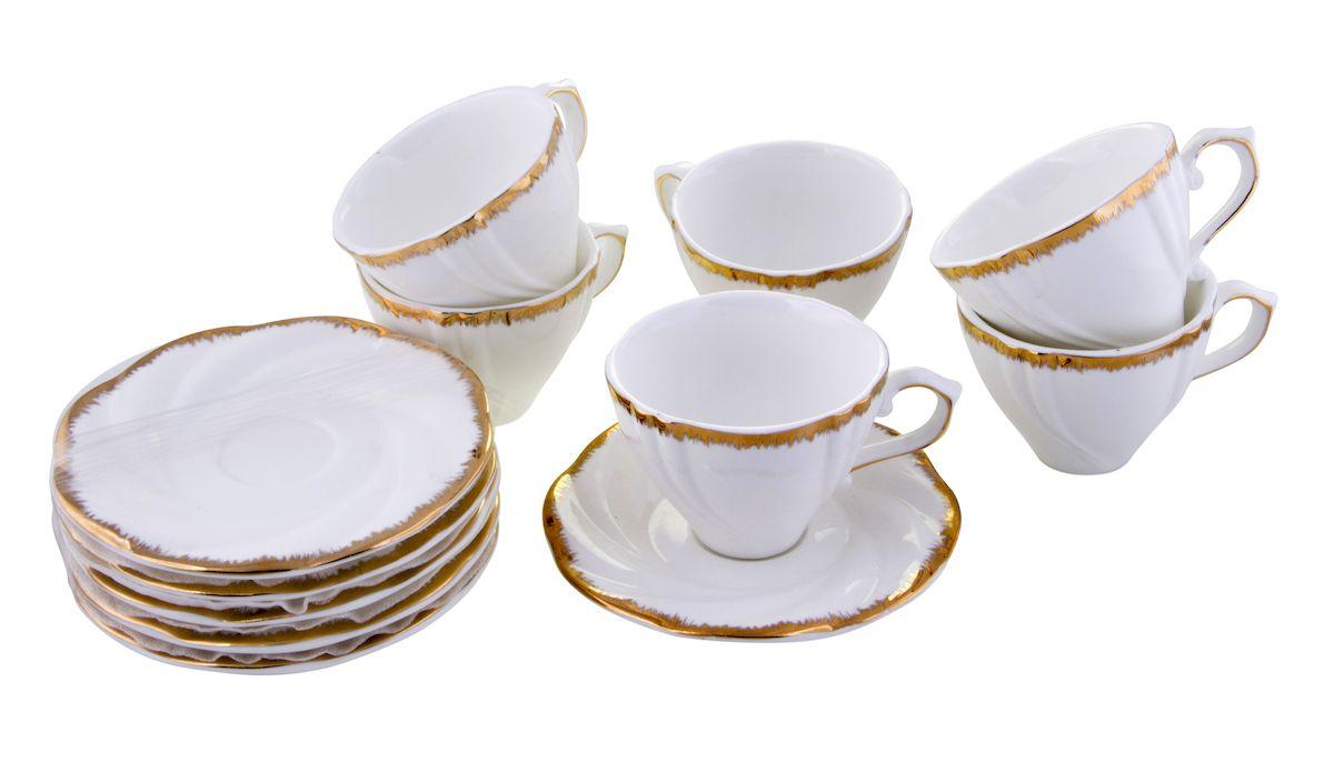 Чайный набор Rosenberg, 12 предметов, 200мл. 872277.858@22992чайный набор, 12 предметов, чашка 200мл блюдце 14 х 14 см