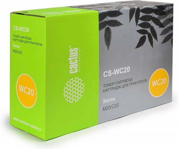 Cactus CS-WC20 106R01048, Black тонер-картридж для Xerox WorkCentre M20/CC C20CS-WC20Тонер-картридж Cactus CS-WC20 106R01048 для лазерных принтеров Xerox WorkCentre M20/CC C20.Расходные материалы Cactus для лазерной печати максимизируют характеристики принтера. Обеспечивают повышенную чёткость чёрного текста и плавность переходов оттенков серого цвета и полутонов, позволяют отображать мельчайшие детали изображения. Гарантируют надежное качество печати.
