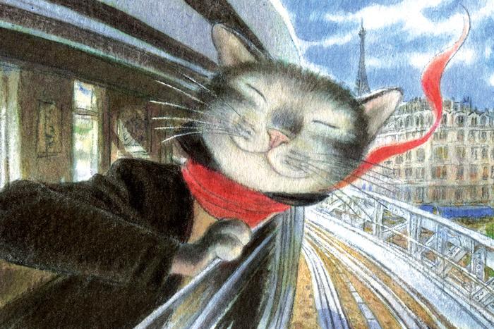 Открытка Солнечный денек. Из набора «Парижский Кот-художник». Автор: Андрей АринушкинAA10-023Оригинальная дизайнерская открытка «Солнечный денек» Из набора «Парижский Кот-художник» выполнена из плотного матового картона. На лицевой стороне расположена репродукция картины художника Андрея Аринушкина с изображением счастливого кота, выглядывающего из окна поезда Парижского метро.Такая открытка станет необычным подарком или оригинальным почтовым посланием, которое, несомненно, удивит получателя своим дизайном и подарит приятные воспоминания.