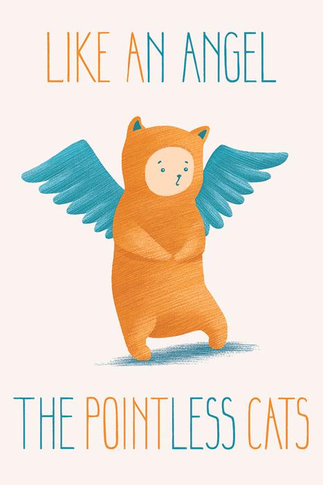 Оригинальная дизайнерская открытка «Like an Angel» Из серии «Бессмысленные котики» с изображением прекрасного котика-ангела. Такая открытка станет необычным подарком или оригинальным почтовым посланием, которое, несомненно, удивит получателя своим дизайном и подарит приятные воспоминания.