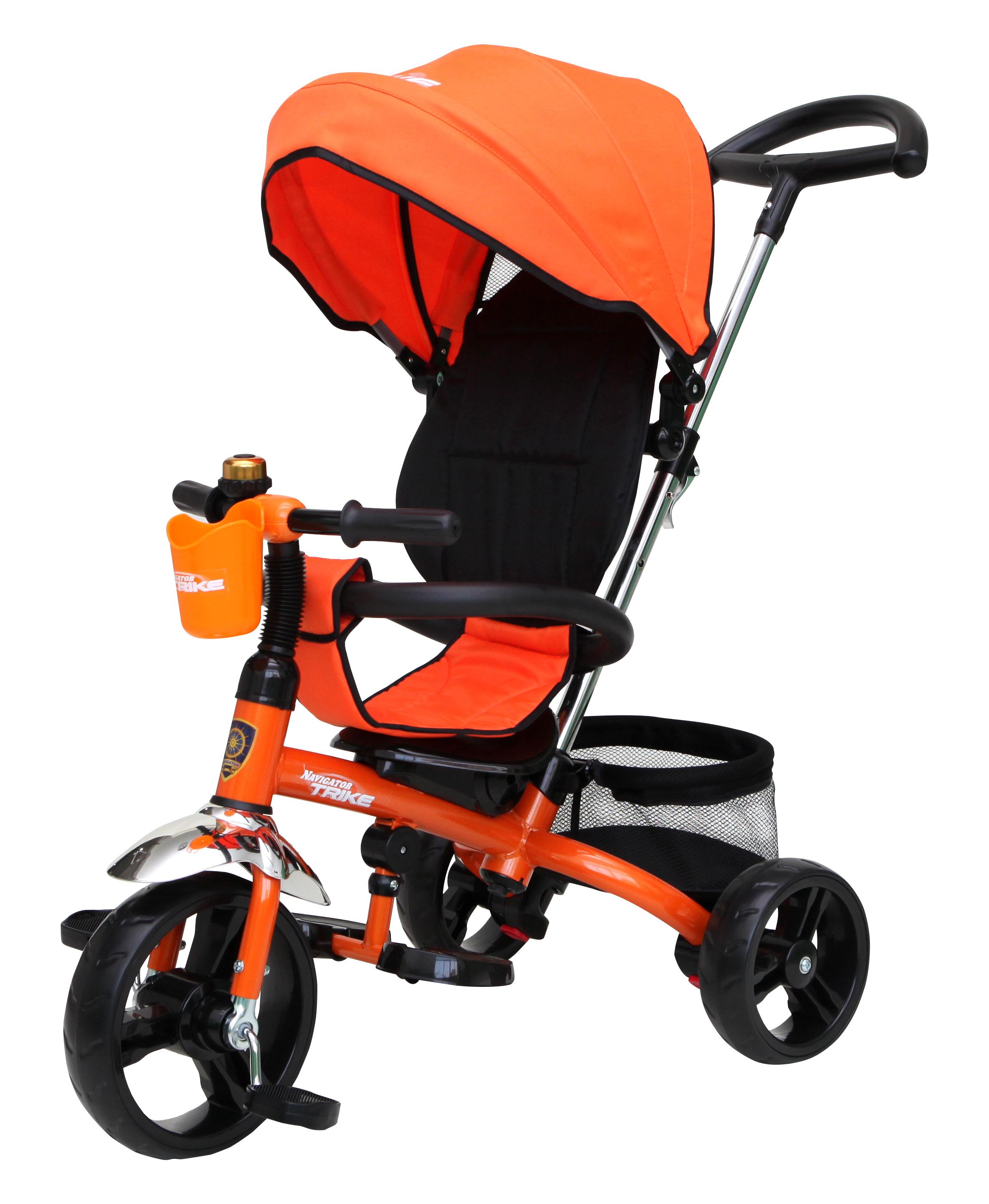 Navigator Трехколесный велосипед Lexus цвет черный оранжевый navigator самокат двуколесный цвет черный оранжевый