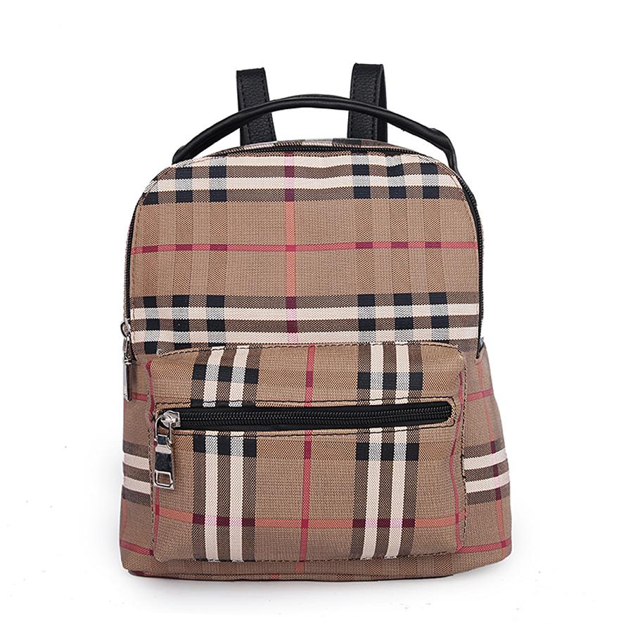 Рюкзак женский Orsa Oro, цвет: бежевый, красный, черный. D-174/3 сумка женская orsa oro цвет черный d 123 46