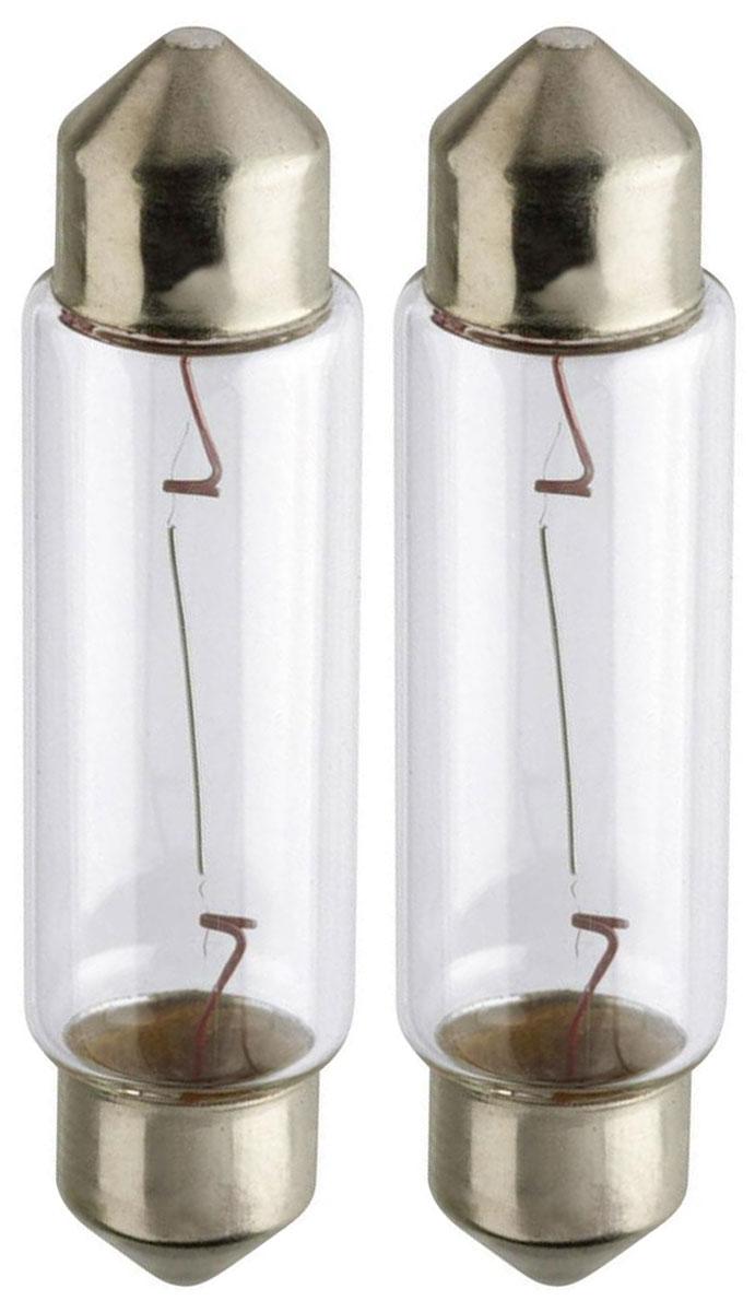 Лампа автомобильная Philips Vision, для салона, цоколь Festoon T10,5x43 (SV8.5), 12V, 10W, 2 шт12866B2 (бл.)Автомобильная лампа Philips Vision изготовлена из запатентованного кварцевого стекла с УФ-фильтром Philips Quartz Glass. Кварцевое стекло в отличие от обычного стекла выдерживает гораздо большее давление и больший перепад температур. При попадании влаги на работающую лампу, лампа не взрывается и продолжает работать. Лампа Philips Vision производит на 30% больше света по сравнению со стандартной лампой, благодаря чему стоп-сигналы или указатели поворота будут заметны с большего расстояния. Лампа Philips Vision отличается высокой эффективностью, соответствуя всем современным требованиям.