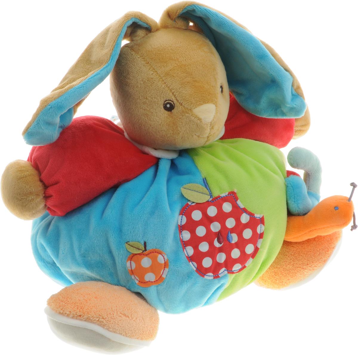 Kaloo Мягкая игрушка Заяц Яблоки 23 см kaloo мягкая игрушка заяц большой песочный коллекция руж kaloo