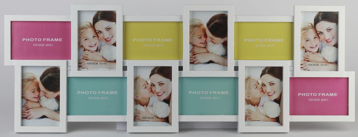 Мультирамка Image Art, на 12 фотографий. PL18-12Image Art PL18-12Мультирамка для фотографий Image Art выполнена из прочного пластика. Рамка состоит из 12 горизонтальных и вертикальных рамок,, которые соединены между собой и каждая из которых защищена стеклом. Рамку можно повесит на стену. Такая рамка не только позволит сохранить на память изображения дорогих вам людей и интересных событий вашей жизни, но и стильно украсит интерьер помещения. Общий размер рамки: 82 х 30 х 2 см.Размер фотографий: 15 х 10 см, 10 х 15 см.