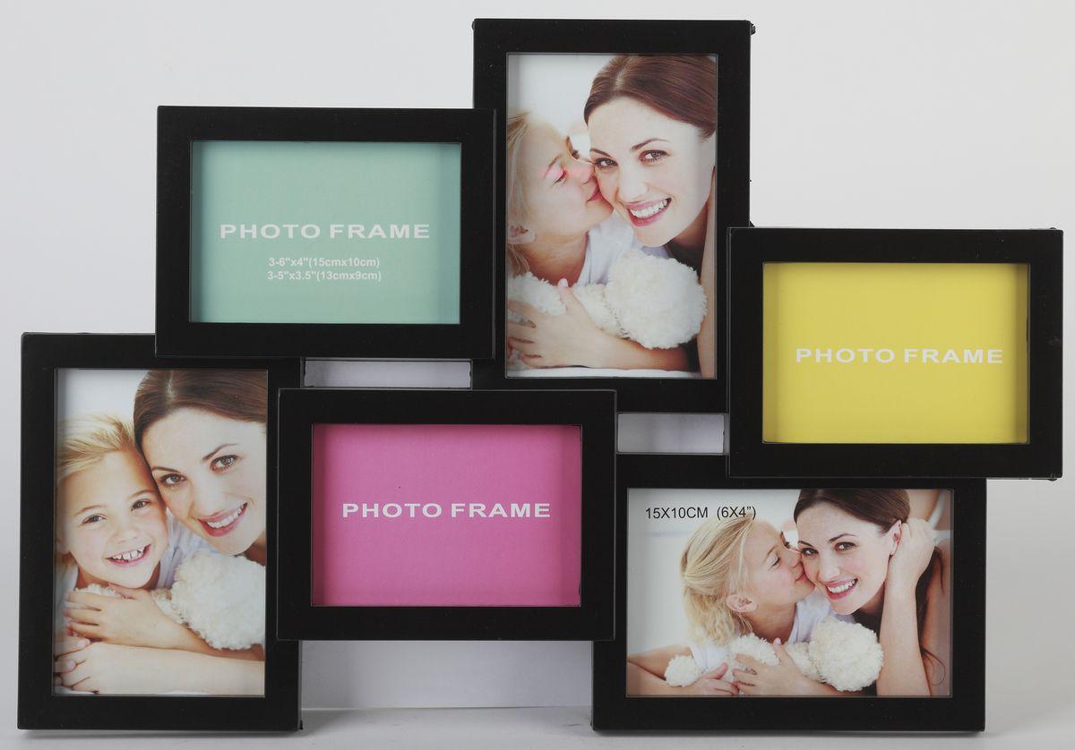 Фоторамка-коллаж Image Art, 6 фото. PL28-6Image Art PL28-6Фоторамка-коллаж Image Art выполнена из прочного пластика. Она состоит из 6 рамок, которые соединены между собой и каждая из которых защищена стеклом. Рамку можно повесит на стену. Такая рамка не только позволит сохранить на память изображения дорогих вам людей и интересных событий вашей жизни, но и стильно украсит интерьер помещения. Общий размер рамки: 44 х 45 см.Размер фотографий: 3 фото (10 х 15 см) и 3 фото (9 х13 см).
