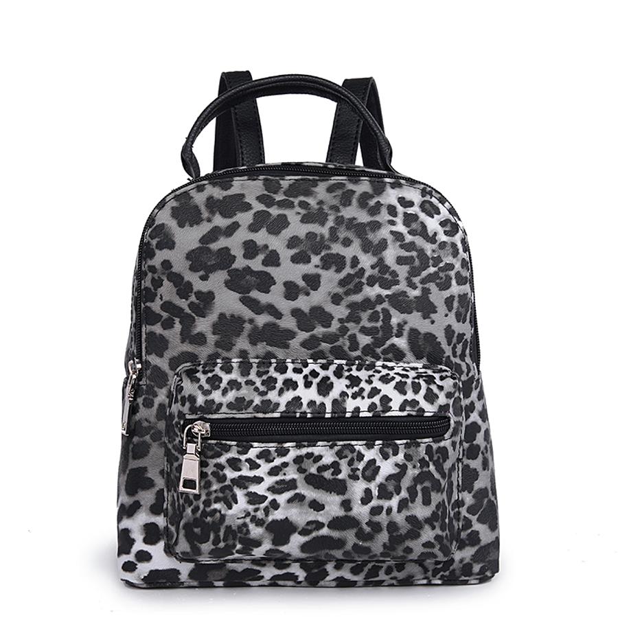 Рюкзак женский Orsa Oro, цвет: серый, темно-серый, белый. D-174/45
