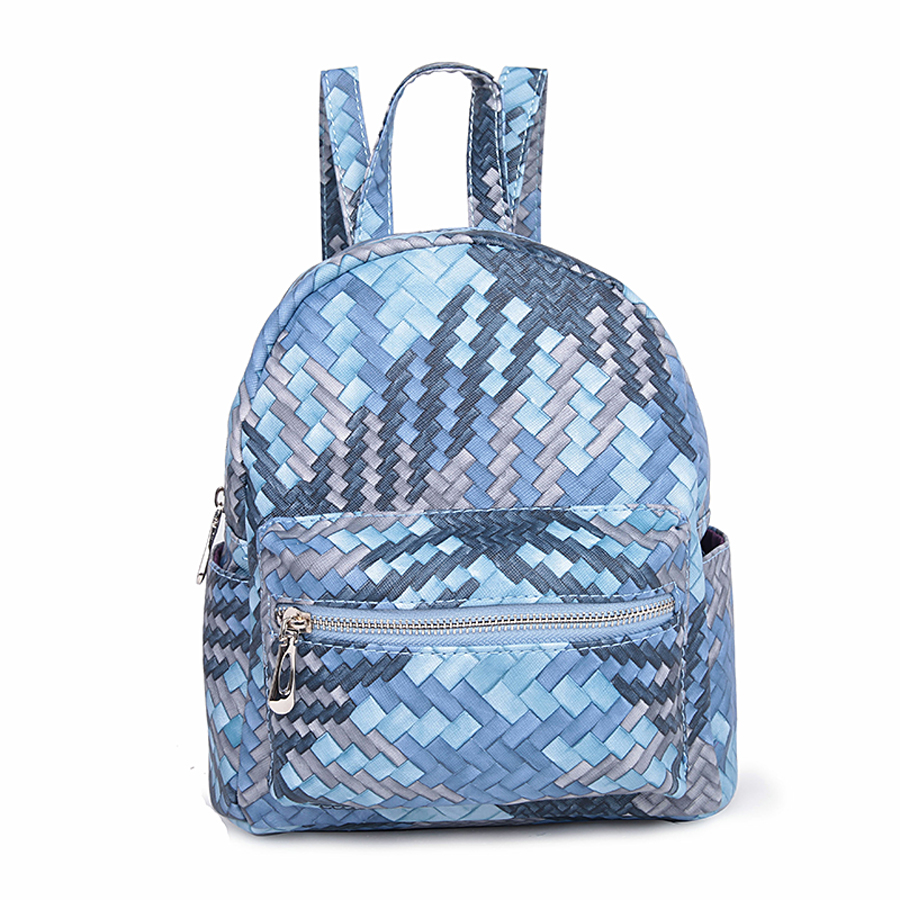 Рюкзак женский Orsa Oro, цвет: голубой, серый. D-177/33 сумка женская orsa oro цвет черный d 123 46