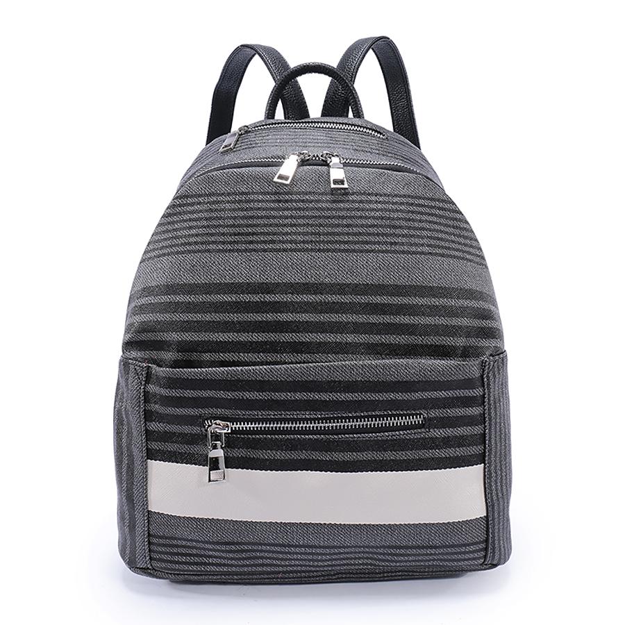 4871d4f13419 Рюкзак женский Orsa Oro, цвет: серый, темно-серый. D-187