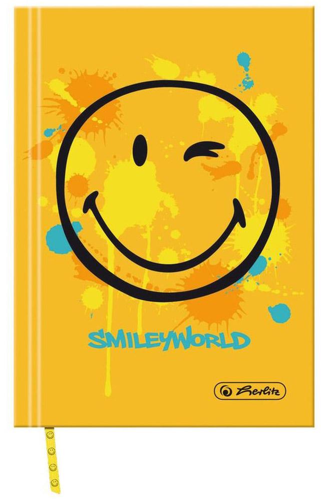 Herlitz Книжка записная Smiley World 96 листов в клетку11276458Получите ежедневную дозу Рок н ролла с новой дизайнерской серией Smiley World! Клевые и прикольные смайлы, «шахматный» дизайн, а также различные детали рок-культуры, такие как гитары или розы, стилизованные под тату, привлекут внимание любого подростка.Удобная записная книжка Herlitz Smiley World пригодится для ведения рабочих или школьных записей, заметок.Она содержит 96 листов формата А6 в клетку без полей. На каждом листе изображен веселый подмигивающий смайлик. Обложка выполнена из качественного картона, склеенный внутренний блок гарантирует надежное крепление листов. Записная книжка от Herlitz Smiley World станет достойным аксессуаром среди ваших канцелярских принадлежностей.