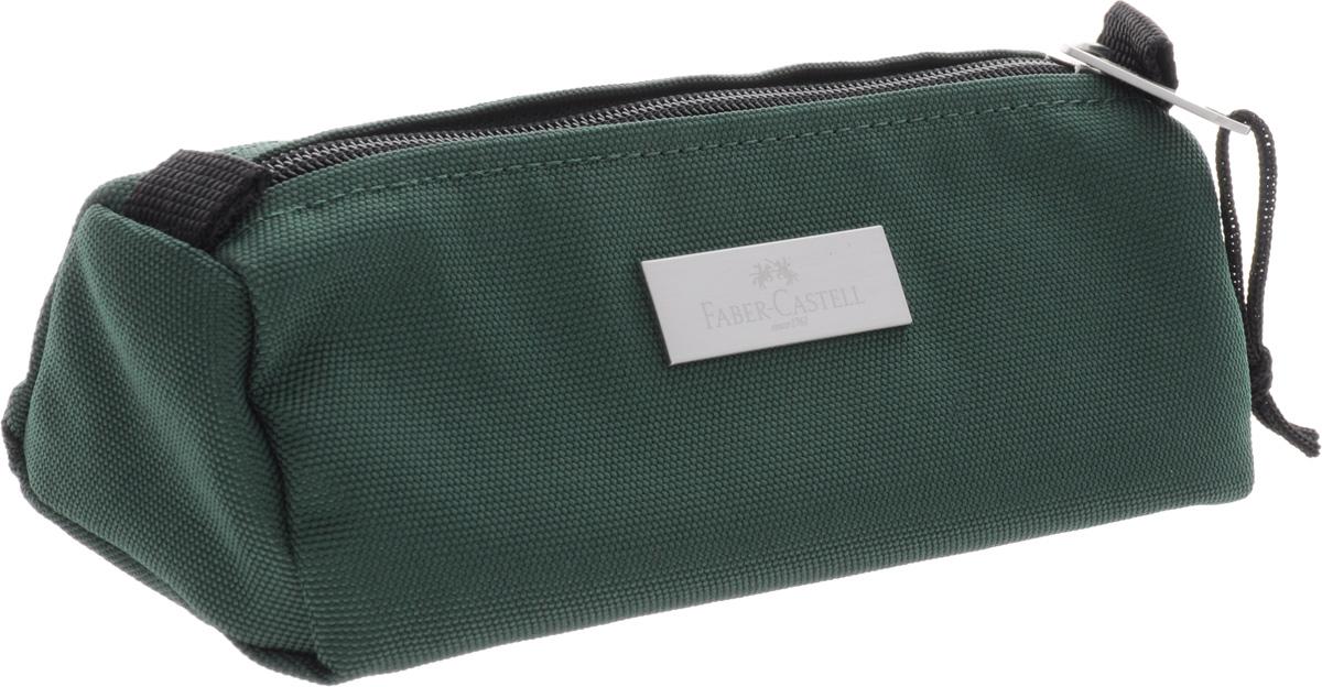 Пенал прямоугольный Faber-Castell, цвет: зеленый191801 зеленыйПенал прямоугольный Faber-Castell, цвет: зеленый