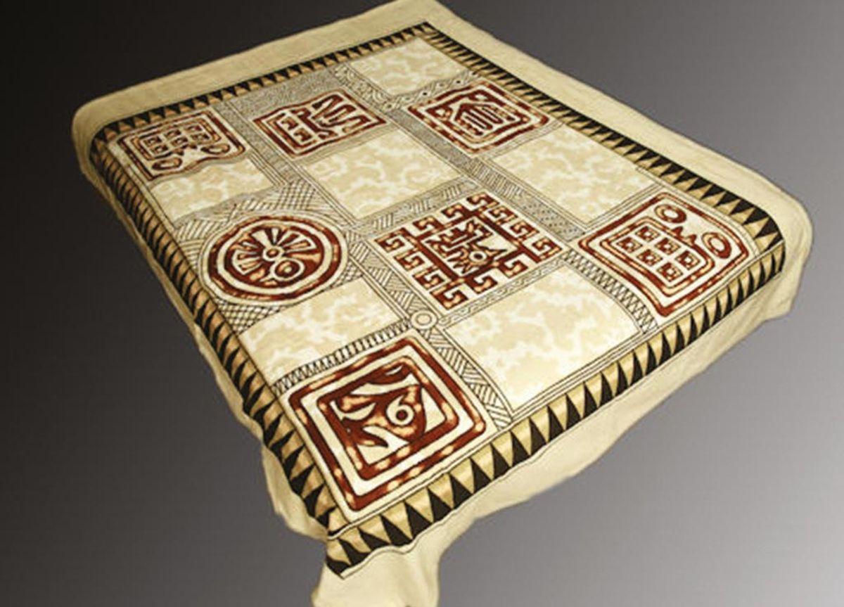 Плед ТД Текстиль Absolute, печатный, 180 х 230 см, цвет: серый, синий86021плотность 210 гр/м2