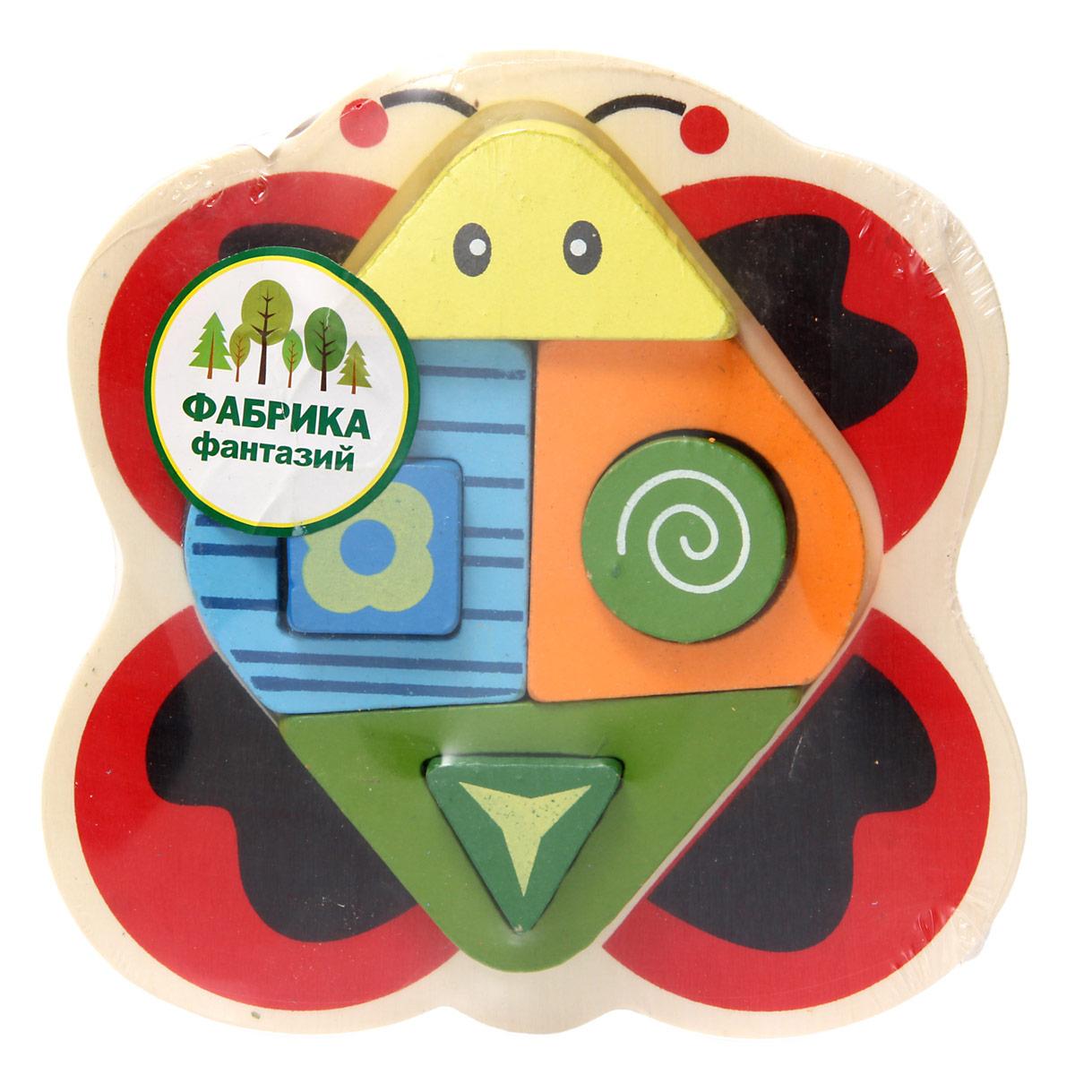 Фабрика Фантазий Сортер Бабочка наборы для творчества фабрика фантазий набор для создания фигурок из гипса на магнитах фрукты и овощи