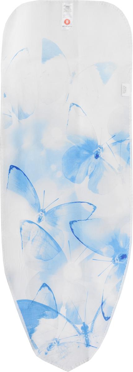 Чехол для гладильной доски Brabantia Perfect Fit. Бабочки, 2 мм, 124 х 38 см. 191404 чехол для гладильной доски brabantia ящерица с войлоком 124 см х 38 см цвет голубой 265006