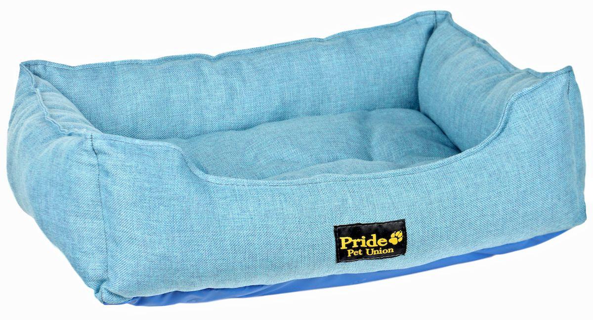 Лежак для животных Pride Прованс, цвет: голубой, 58 х 48 х 15 см лежак для животных каскад клетка 2 46 х 46 х 15 см