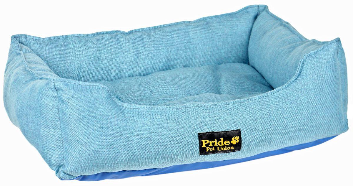 Лежак для животных Pride Прованс, цвет: голубой, 85 х 72 х 20 см лежак для животных каскад клетка 2 46 х 46 х 15 см