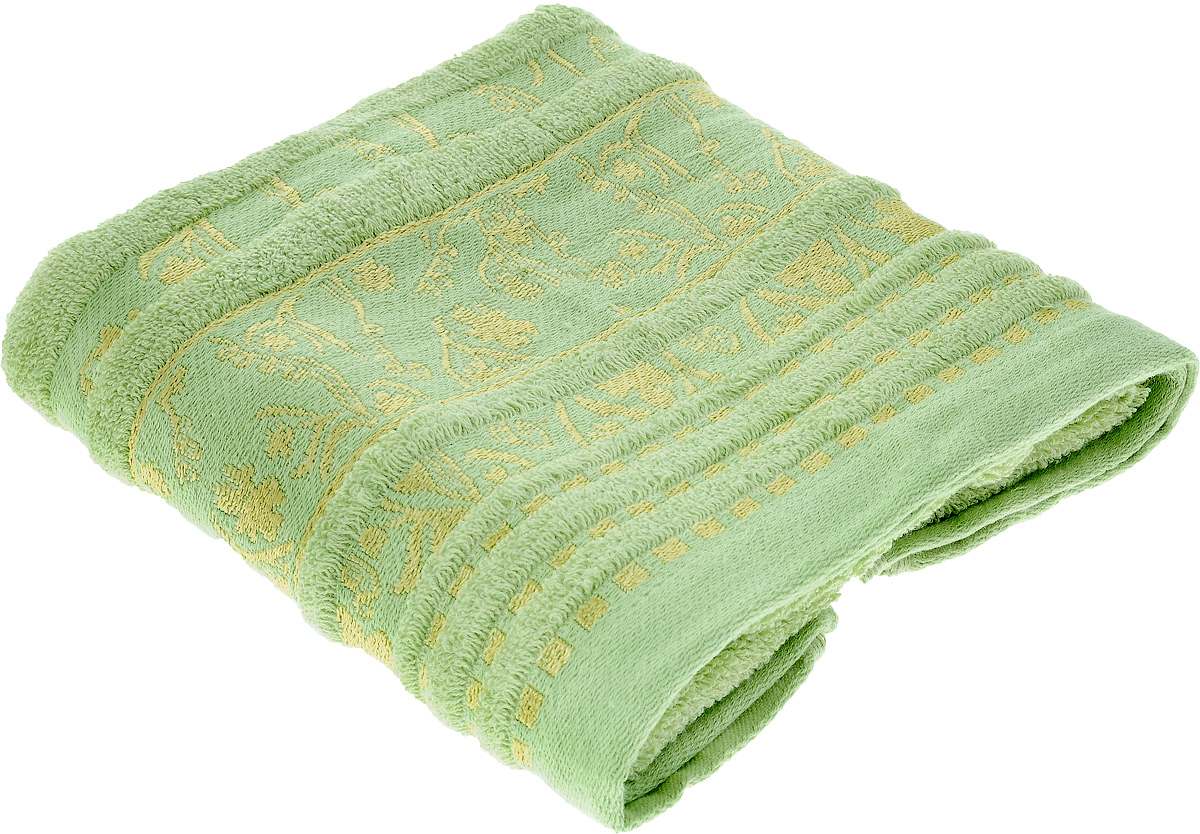 Полотенце Soavita Sandra, цвет: зеленый, 50 х 90 см64065Полотенце Soavita Sandra выполнено из 100% хлопка. Изделие отлично впитывает влагу, быстро сохнет, сохраняет яркость цвета и не теряет форму даже после многократных стирок. Полотенце очень практично и неприхотливо в уходе. Оно создаст прекрасное настроение и украсит интерьер в ванной комнате.