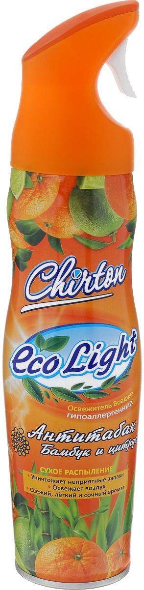 Освежитель воздуха Chirton ЭКО Лайт, 280 мл49505Освежитель воздуха Chirton ЭКО Лайт содержит высококачественные натуральные ароматизаторы. Он быстро и эффективно устраняет неприятные запахи, оставляя свой тонкий и нежный шлейф. Освежитель безопасен для окружающей среды и здоровья человека - не содержит хлорфторуглеродов.Товар сертифицирован.Уважаемые клиенты! Обращаем ваше внимание на возможные изменения в дизайне упаковки. Качественные характеристики товара остаются неизменными. Поставка осуществляется в зависимости от наличия на складе.